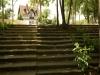 Neue und alte Treppenanlage