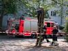 Die Feuerwehr sichert den Bereich ab...
