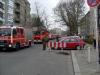 Auch in Richtung Stromstraße war alles voll Feuerwehr
