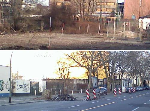 Bauarbeiten an der neuen Quitzowstraße