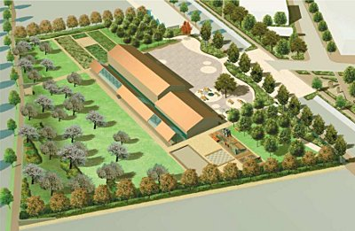 Der Planentwurf für den Moabiter Stadtgarten (April 2009)