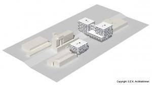 """Perspektive Visualisierung Projektentwurf """"Besondere Wohnformen"""", GSE gGmbh mit S.E.K. Architektinnen"""