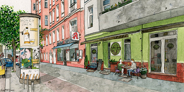 Café Coffee-Break, Illustration: Sara Contini-Frank