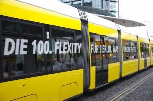Foto: Die 100. Flexity für Berlin ist in Betrieb