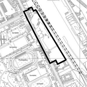 Gebietsgrenze des aktuellen B-Plan-Entwurfs 1-67VE