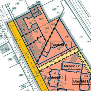 Wohnungen mit Mietpreis- und Belegungsbindung sind ausschließlich auf den Baufeldern A und B1 vorgesehen