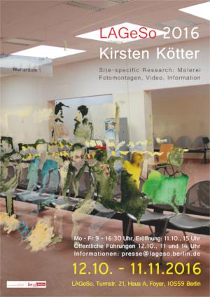 Ausstellungsplakat Site-specific Research LAGeSO 2016, Kirsten Kötter
