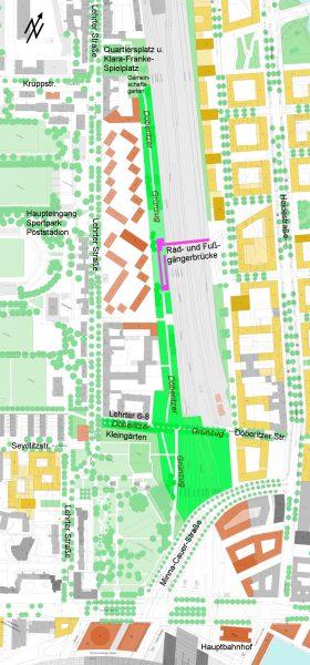 Kartendarstellung des Döberitzer Grünzugs im Digitalen Stadtmodell 2015