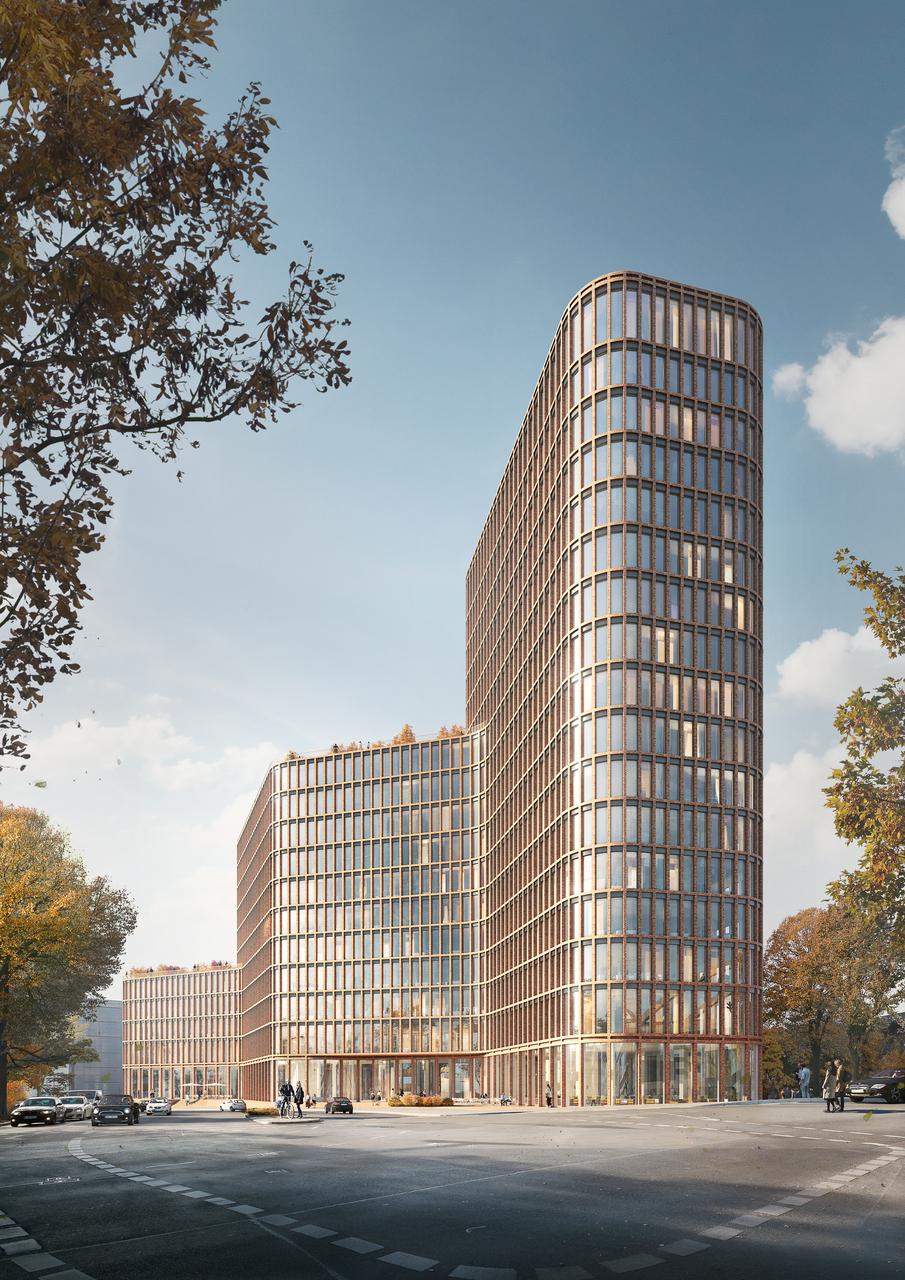"""Visualisierung """"Hochhaus am Nordhafen"""""""