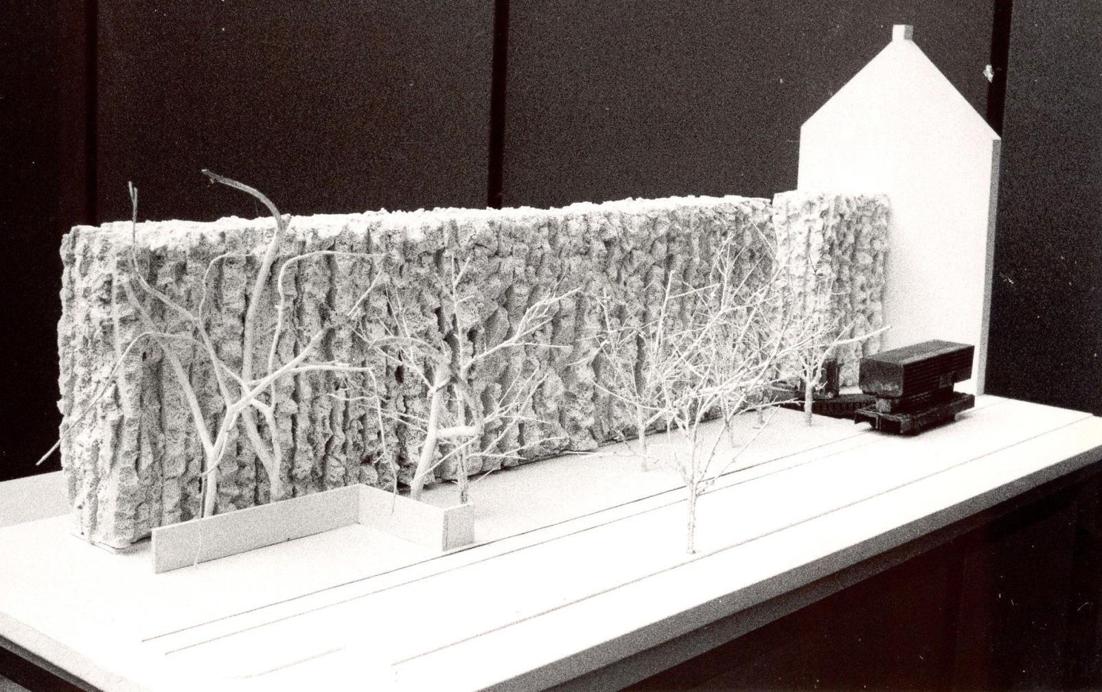 Modell Wettbewerbsentwurf 1987/88